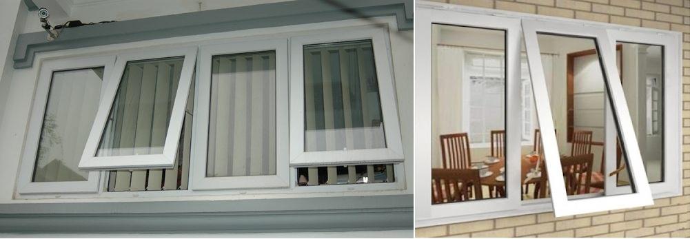 cửa sổ hất 2 cánh