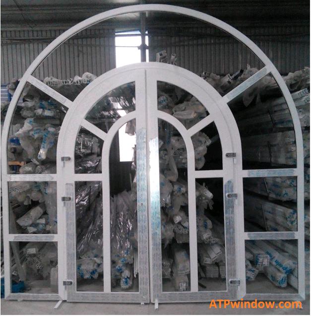 cửa nhựa lõi thép uốn vòm